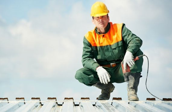 roofing contractor schaumburg sitting on the roof